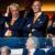 2016-09-01 20:39:39 EINDHOVEN - Michael van Praag (L), Gijs de Jong (2eR) en Johan Lokhorst (R) van de KNVB op de tribune voorafgaand aan de oefeninterland Nederland - Griekenland in het Philips Stadion. ANP KOEN VAN WEEL